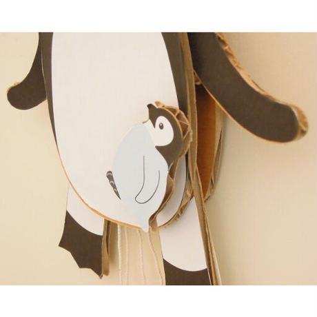 ダンボールの工作キット【ペンギンのあやつり人形】からくり学んで作ろう(6歳以上)メール便対応【ギフトに最適】