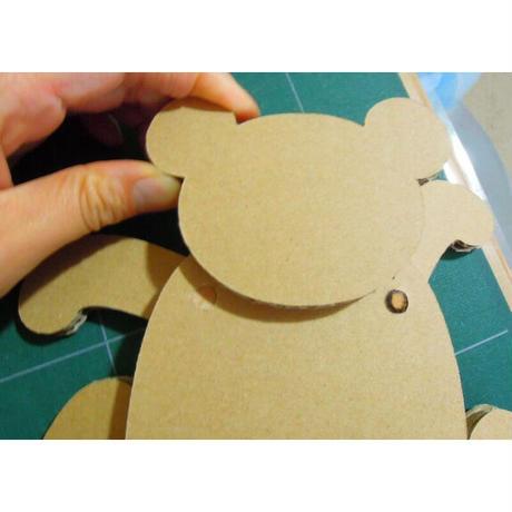 ダンボールの工作キット【パンダのあやつり人形】からくり学んで作ろう(6歳以上)メール便対応【ギフトに最適】