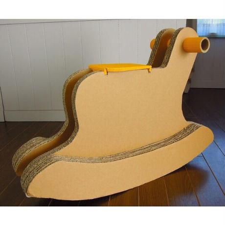 段ボール製【木馬】子ども用(2歳以上)室内用おもちゃ