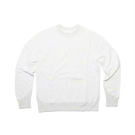 REGULAR FIT NEON SCRIPT LOOPWHEEL CREW-NECK PO / BLEACHED GR3×NEON YELLOW [MJ2-0131]