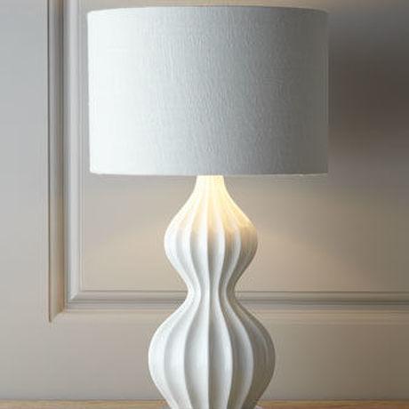 White Glam Curvey Lamp