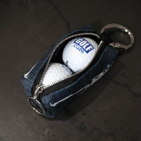 ファスナー式 ゴルフボール ポーチ / キュート バック ガール デザイン