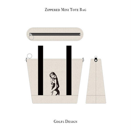 ファスナー付きカートバッグ / ランジェリー ウーマン デザイン ( キャンバス )