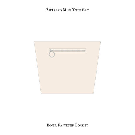 ファスナー付きカートバッグ / ポップ フラワー デザイン