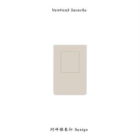 Vertical Sacoche  / 阿吽狼朱印 Design  ( 象牙×墨 )