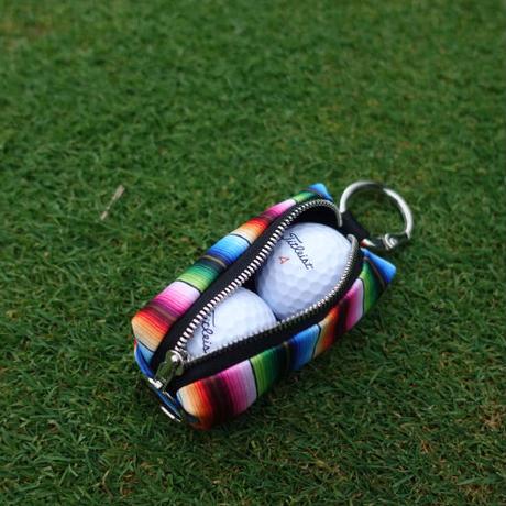 ファスナー式 ゴルフボール ポーチ / ネイティヴ ストライプ デザイン