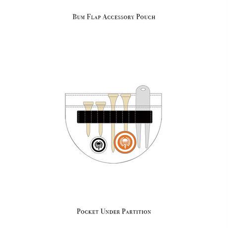バムフラップ アクセサリー ポーチ / マーブル ハーツ デザイン