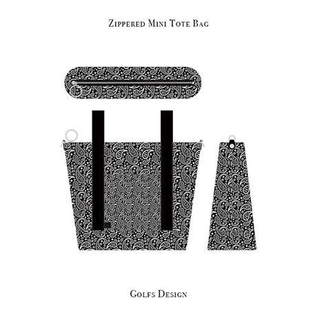 ファスナー付きカートバッグ / ペイズリー デザイン ( ブラック )