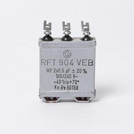 RFT MPオイルコンデンサ 0.5uF+0.5uF/160V (NOS)