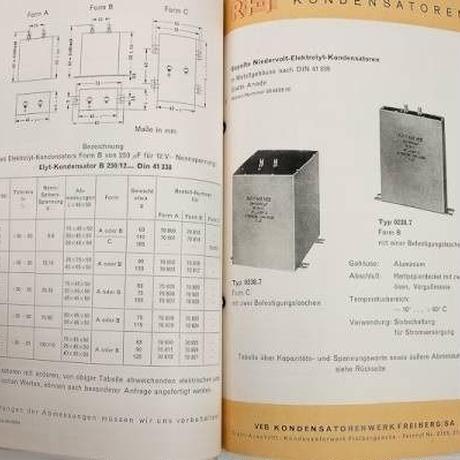 RFT コンデンサー データブック 1954年