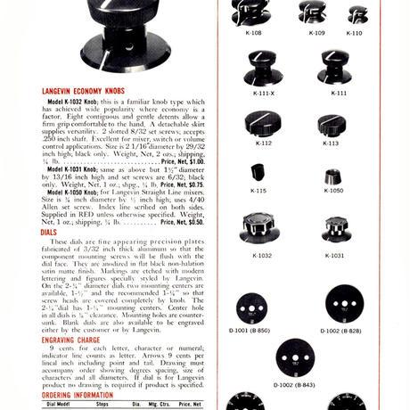 Langevin Audio Equipment Catalogue 1961 (PDF)