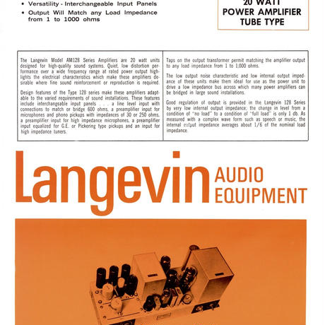 Langevin Audio Equipment Catalogue 1967 (PDF)