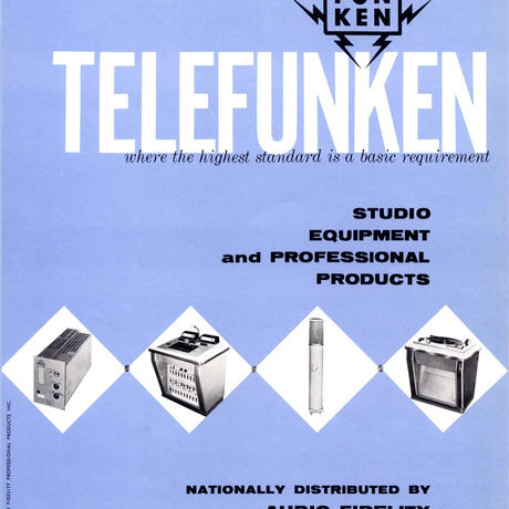 TELEFUNKEN STUDIO EQUIPMENT AND PROFESSIONAL PRODUCTS 1959
