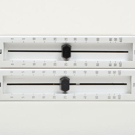 LE 266 / balanced passive fader mono 2 unit /   silver/silver