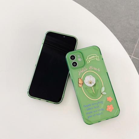 チューリップ iphone11/12promaxケース 花柄クリア iphonexs/8plusカバー  透明  可愛い 保護力強いM758