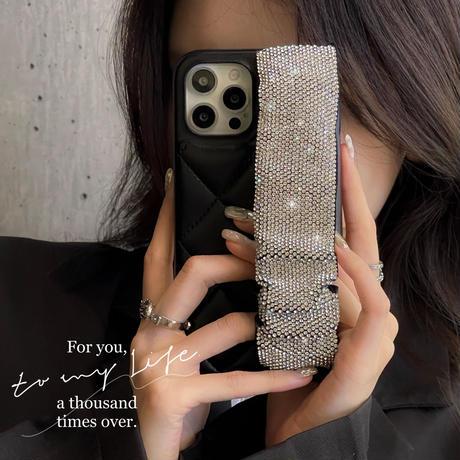 ジュエリー持ち手付 iphone13/13promaxケース  高品質革製 iphone12pro/11カバー  おしゃれ お上品 女子力UP  手さわりいいM1126