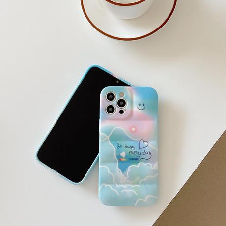 笑顔青空 iphone13/13proカバー 耐衝撃 クラーデション色 iphone12pro/11ケース  保護力強い ファッションセンスいいM1139