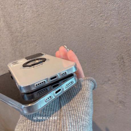 リング/スタンド一体型 iphone13mini/13proカバー  カメラレンズ一保護 アイフォン12/11promaxケース   シンプル風 頑丈  M1044