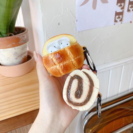 メロンパン 玉子焼きairpodsケース 美味しい食べ物 airpodsproカバー  面白い キーリング付  頑丈ケースM508