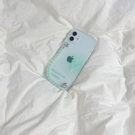 チューリップ iphone11/12proケース  チェーン付 クリアiphonexs/se2カバー シンプル風透明携帯保護カバー M717