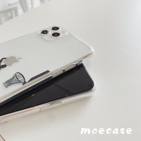 スラムダンクiphone12promax 透明 メンズファッションクリアアイフォン11/xr/xsmaxカバー 運動風シンプル風耐久性ありM120