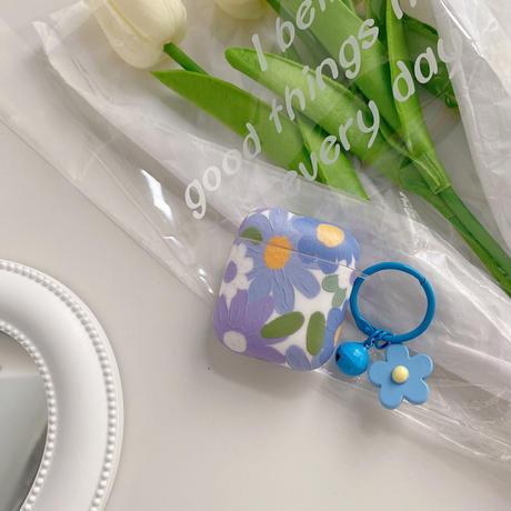 花柄 airpodsproケース  高品質  airpodsカバー  リング小物付き  綺麗 ファッション 手触りいい M756