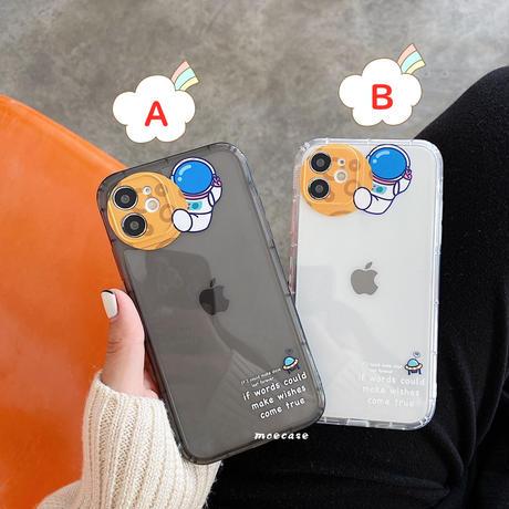 宇宙飛行士 月面着陸 iphone11/12Promaxケース クリアケース  お揃いiphoneSE2/7plusカバー 透明面白い携帯ケースM256