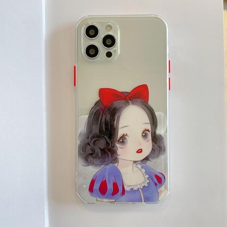 プリンセス  iphone12/SE2ケース  お揃いペア iphone11/xs/8カバー   可愛い女の子  頑丈 キュートM770