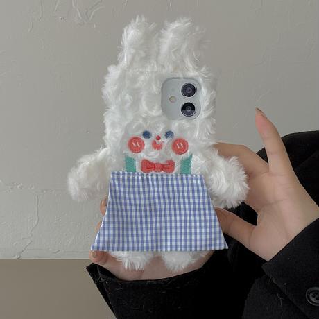 ウサギ iphone13/13proケース 可愛い アイフォン12/11proカバー  暖かい 柔らかい お揃い 手触りいいM1137