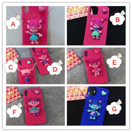 人形トロールiphone12ケース アイフォン12ミニ/11プロカバー プレゼント 髪型変更  可愛いアイフォンSE2ケース ガールズ向けM122