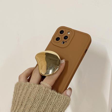 金属グリップ付 iPhone13pro/13promaxケース   スマホスタンド iphone12 /11promaxカバー   可愛い 品質いいM1138