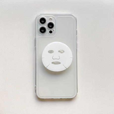 シートマスクグリップ アイフォン13/13proケース   オシャレ3色 お揃い iphone12pro /11ケース   頑丈 スマホスタンド 多機能M1144