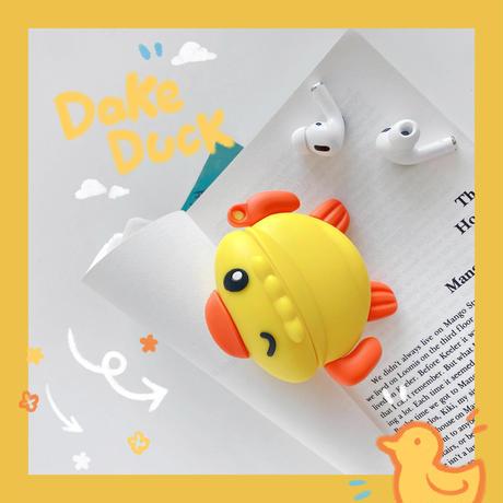 水泳ダック  airpodsproケース かわいいカモ airpodsカバー    動物デザイン 人気品 夏おすすめM762