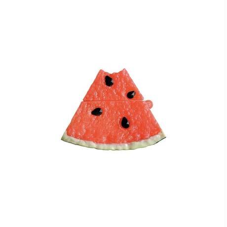 スイカ airpodsproケース  果物  airpodsカバー   キーリング付き 高品質食べ物デザインケース  夏おすすめ M569