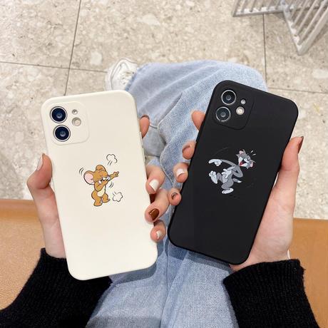 お揃いTom Jerry iphone12/11Proケース  トム ジェリー アイフォンSE2/8カバー 高品質手触りいいスマホケースM281