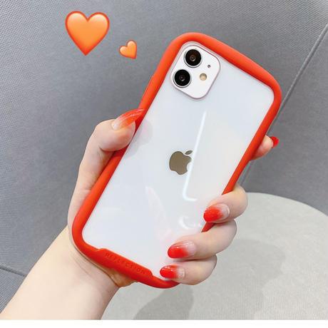 耐衝撃 透明iphone11/12promaxケース  SE2/XSカバー  持ちやすい軽量クリアスマホケース 耐久性頑丈M328