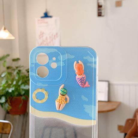 水泳人鱼  iphone12/11proケース   可愛いiphoneSE2/XS/11カバー  耐衝撃頑丈携帯ケース 夏おすすめ M761