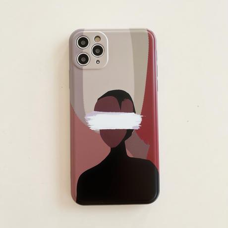 クールGIRLS iphone12/11Proケース  お揃い アイフォンSE2/8カバー 抽象画風 高品質手触りいいスマホケースM331