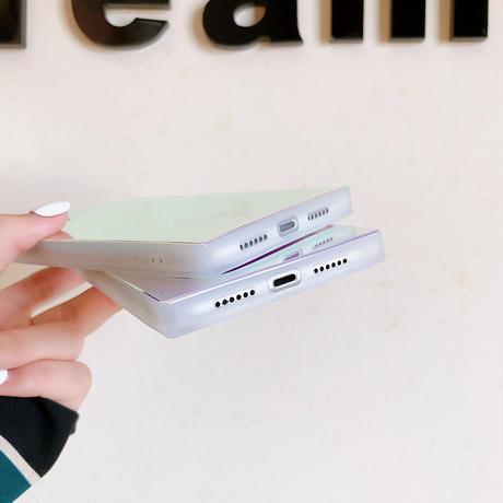 iphone12promaxケース 紫色の光 スクエア四角アイフォン12/11proケース 鏡面ツヤ感iphoneSE/XSカバー  オシャレ男女むけM83