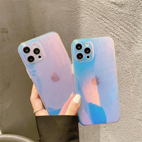 オーロラカラー iphone13mini/13proケース キラキラグラデーションカラー iphone12/11promaxカバー  高透明感 綺麗M1010