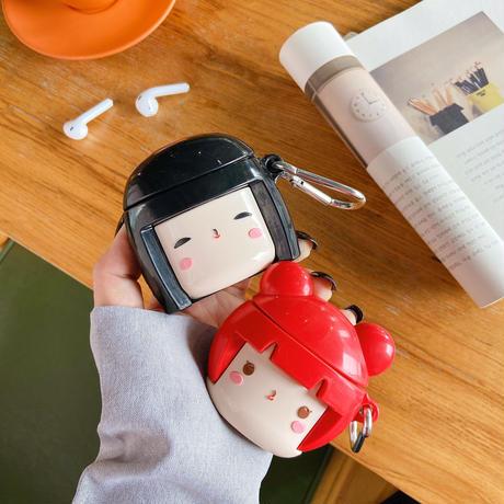 お人形さん airpodsproケース  可愛い  airpodsカバー  キュート 綺麗 ファッション ソフトケース M775