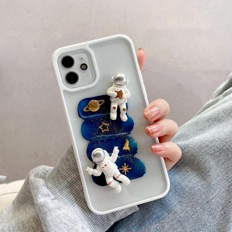 宇宙飛行士 iphone13mini/13promaxケース  銀河 iphone12/11proカバー  可愛い 面白い M995