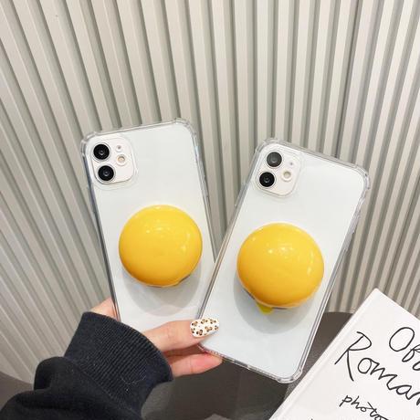 ストレス解散 黄身 iphone12/se2ケース 卵黄 iphone11/xsカバー  立体 つまむ 可愛い面白いおもちゃスマホケースM337