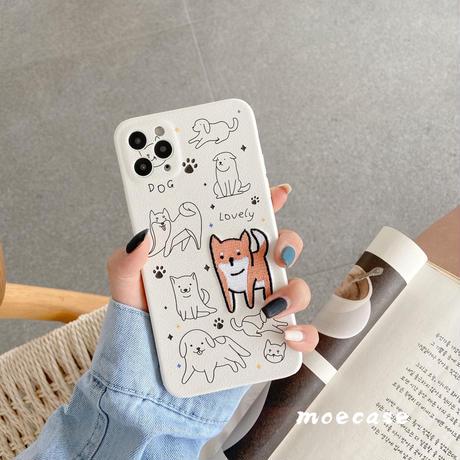 刺繍入り猫/犬柄iphone12/11proケース 可愛いアイフォンSE 第二世代カバー   お揃いペア携帯ケース 保護力強りソフトケースM204