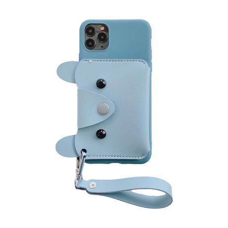 可愛い小銭入れ付 iphone11/12proケース ストラップ付 アイフォンSE2/XSカバー  キュート  耐衝撃頑丈便利M594