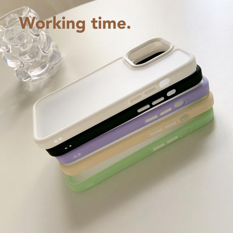 マット 指紋防止 iphone13mini/13promaxケース  耐衝撃 カラー枠 iphone11/12カバー  頑丈 シンプル風クリアカバー M1055