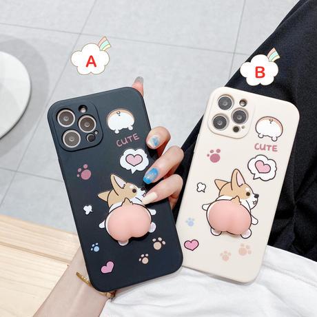 コーギー iphone12/11proケース  柔らかいお尻 アイフォンSE2/XSカバー ストレス解消 頑丈面白い携帯ケースM400