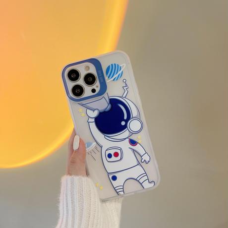 宇宙飛行士柄 iphone13/13promaxカバー さりげないお揃い アイフォン12pro/11proamxケース  ペア面白い ギフトM1142