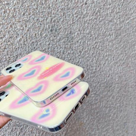 キラキラハート柄  iphone11/12proケース おしゃれ  iphonexr/se2カバー  ガールズ人気  女子力UP M631
