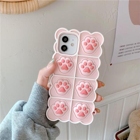 猫の爪痕 プッシュポップ iphone12/11ケース 押せるにゃんつめ  iphoneSE2/XSカバー バブル感覚 ストレス解散 お揃い面白い M640